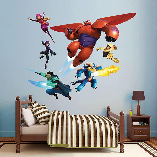 Big Hero 6 Collection REAL.BIG. Fathead – Peel & Stick Wall Graphic   Big Hero 6 Wall Decal   Disney Decor   Bedroom/Playroom/Nursery