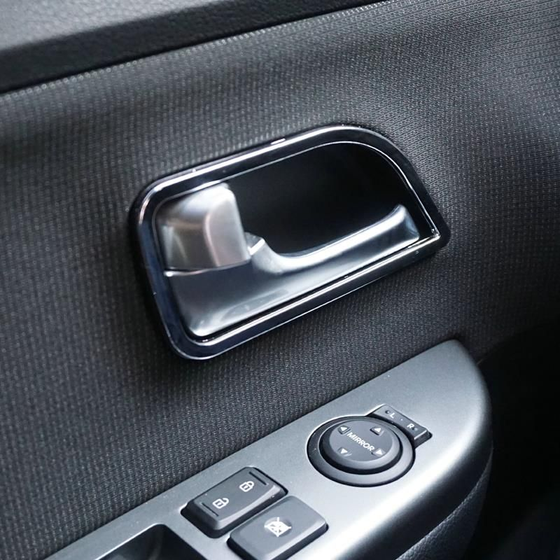Abs Chrome Trim Door Handle Cover Interior Decoration Ring Sticker Car Accessories For Kia Rio K2 2011 2012 2013 2014 2015 Interior Accessories Car Accessories