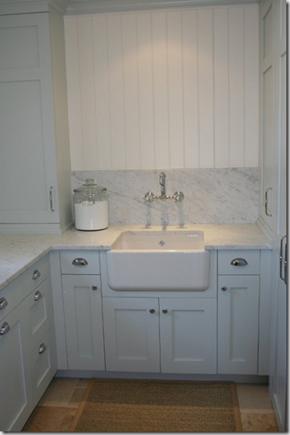 Laundry Room  Shaw Farmhouse Sink, Rohl Wall Mounted Faucet