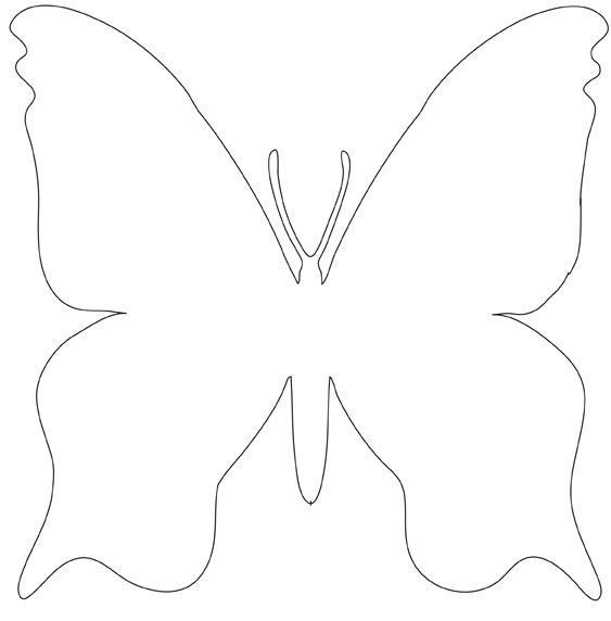 Gabarit papillon chambre bebe schmetterling vorlage schablonen et bastelarbeiten - Modele de papillon ...