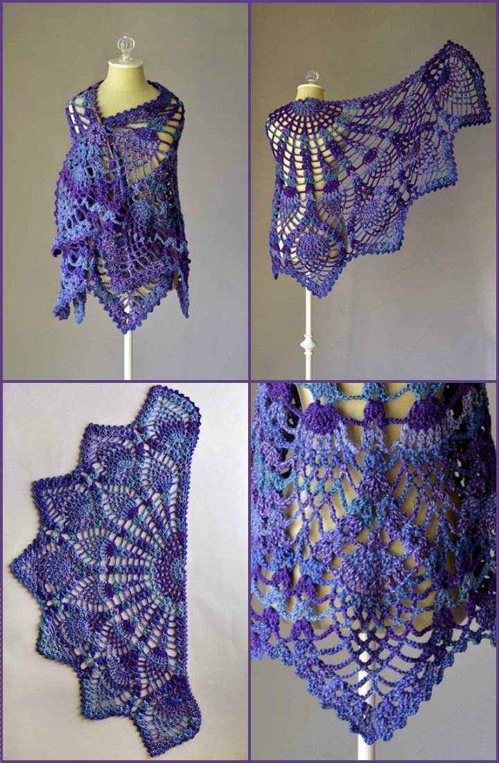 100 Free Crochet Shawl Patterns – Free Crochet Patterns #shawlcrochetpattern