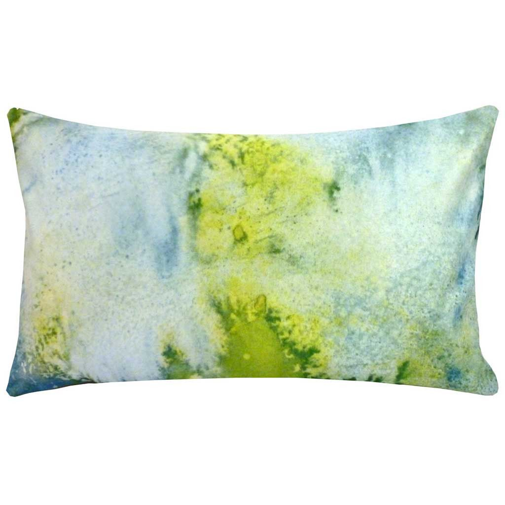 Rectangular acid abstract cushion bright colours interiors and lights