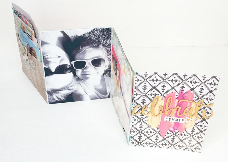 Mini album with the Confetti Collection by Maggie Holmes
