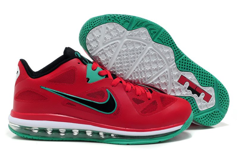Nike Lebron 9 Low Liverpool Red Green White Shoes http://kobeshoesonline.org