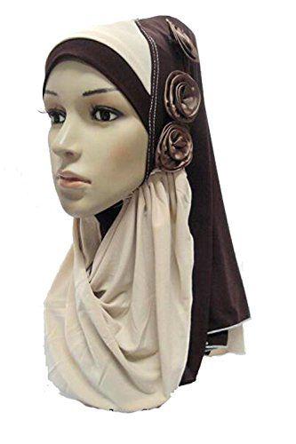 2 Color 1 Piece Hijab Scarf Amira brown nobrand