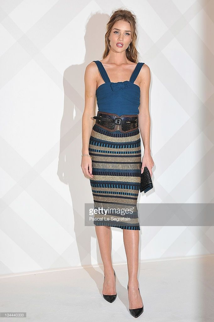 Rosie Huntington-Whiteley attends the Burberry Paris Boutique Opening At British Embassy on December 1, 2011 in Paris, France.