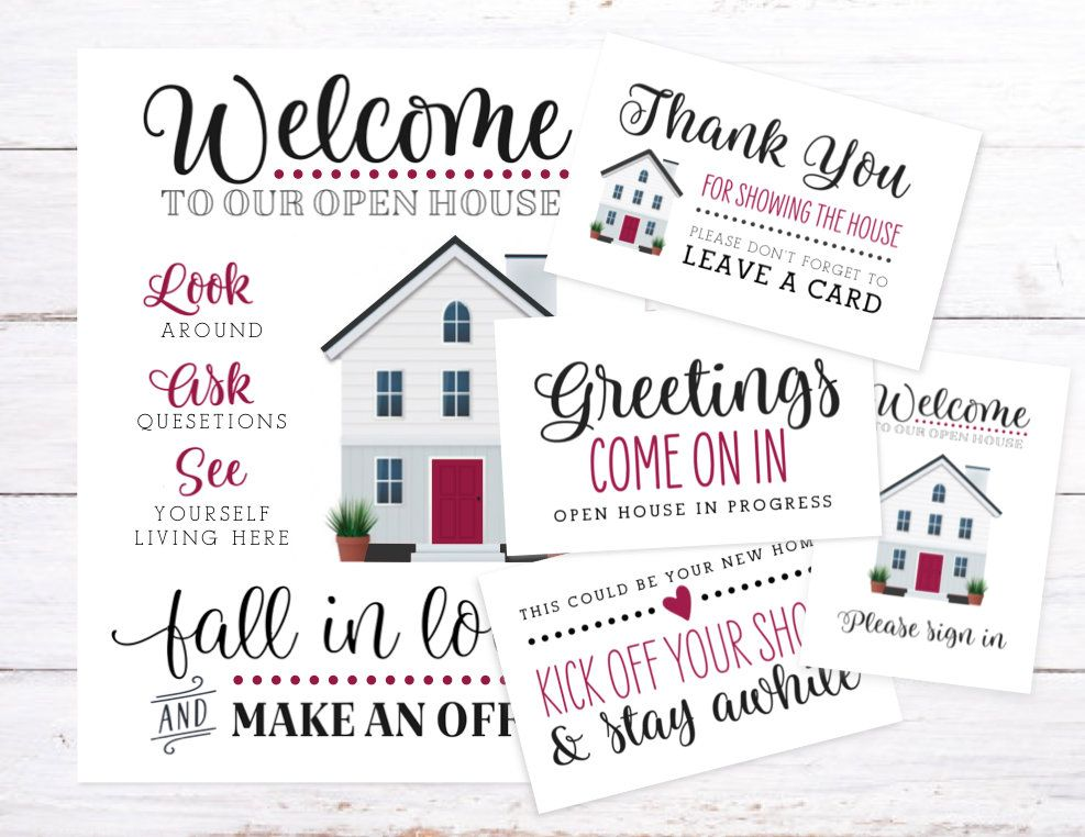 graphic relating to Welcome to Our Open House Printable called Welcome in the direction of Our Open up Property Printable Package Fast Down load