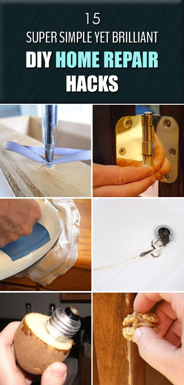 15 Super Simple Yet Brilliant DIY Home Repair Hacks | Diy ...