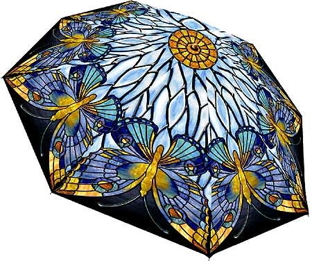 Tiffany Butterfly Umbrella - Could I paint this on a white parasol?