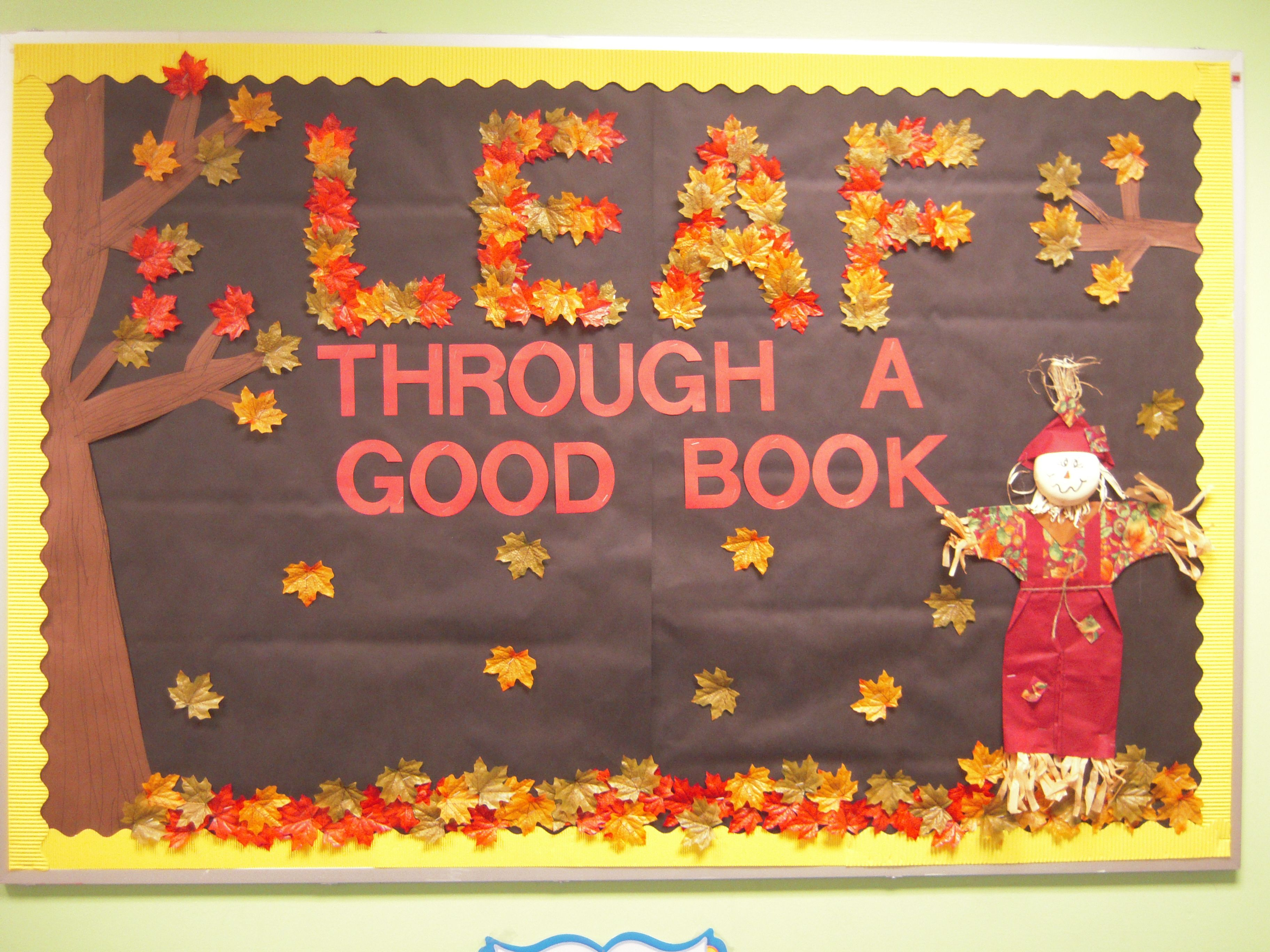 Winter bulletin boards ideas pinterest - Bulletin Board I Love How The Teacher Created The Letters Leaf Out Of Leaves This Is A Great Idea For A Fall Bulletin Board Display That Highlights