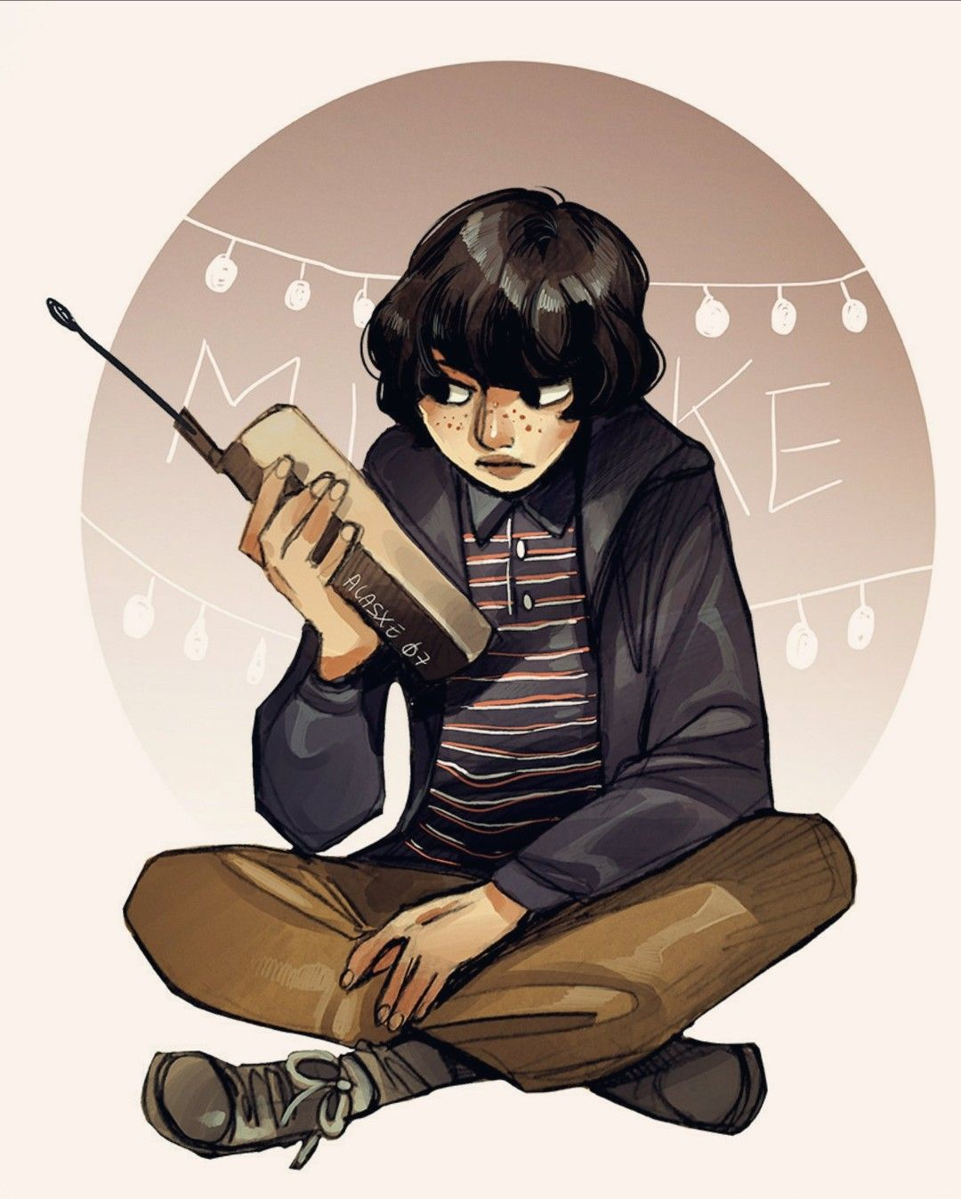 Pour Mike All He Wants Is Eleven Back Or To Speak Hear Her Sweet Voice Stranger Things Mike Stranger Things Poster Stranger Things Fanart