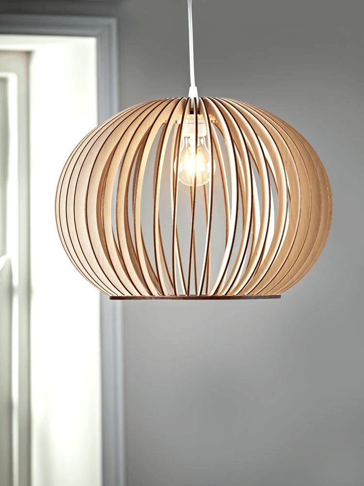 245 Wooden Slatted Globe Pendant Wooden Pendant Lighting Living Room Pendant Light Globe Ceiling Light