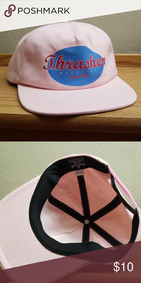 44256ca4aa5 Thrasher Magazine Oval Pink Hat Adjustable snapback
