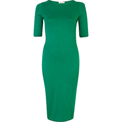 Green midi column dress #riverisland