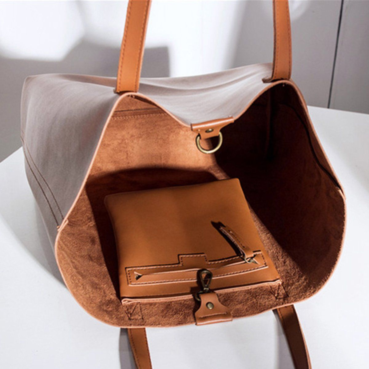 fc16bd20d Oversized Tote Bag - Burnt Orange - worthtryit.com | bolsas | Womens ...