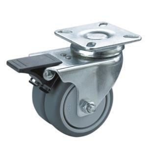 Trend Beschreibung Doppel Lenkrollen mit Bremse Material PP TPR Rad Gr e mm