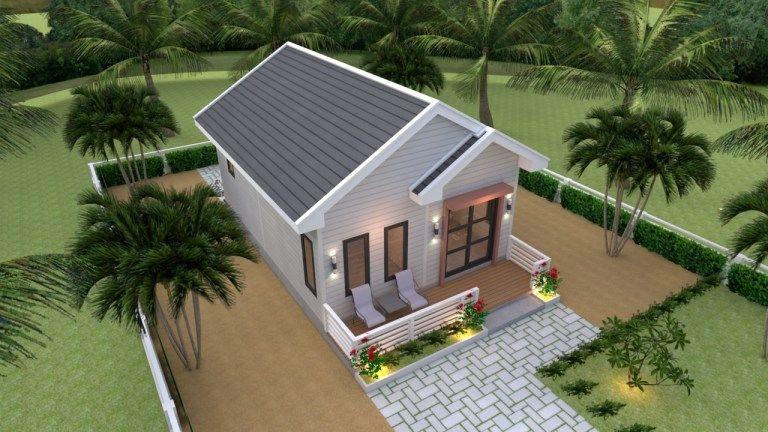 Studio House Plans 6x8 Gable Roof House Design 3d Gable Roof House Small House Design Plans Small House Design