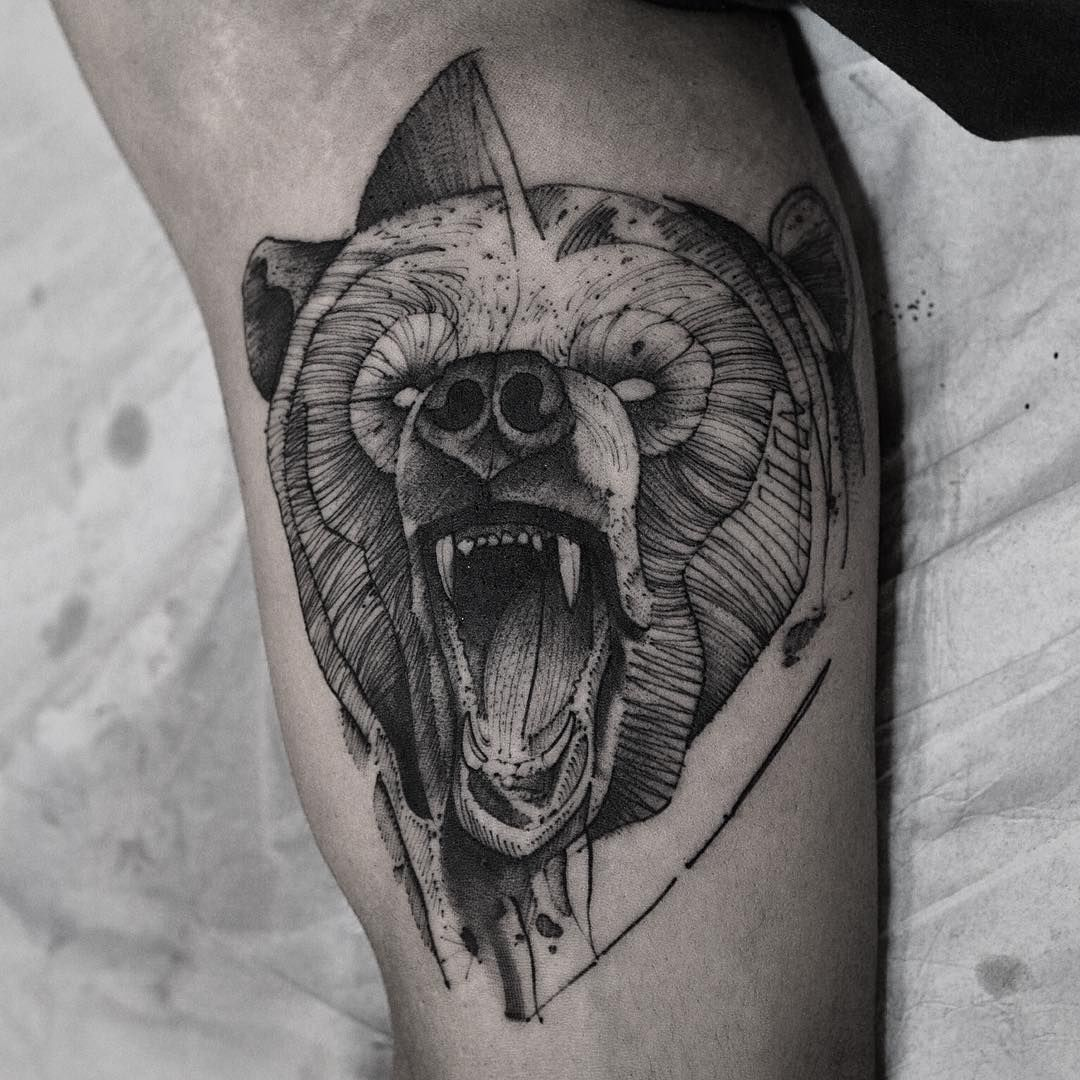 Bear tattoo meaning and symbolism bear tattoos tattoo and wild tattoo bear tattoo meaning and symbolism the wild tattoo buycottarizona Image collections