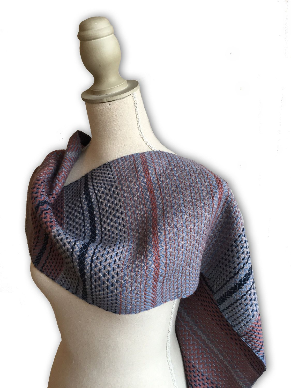Hand woven scarf, unique scarf, women's scarf, wool scarf, unisex scarf, gift for her, 100% wool, womens scarf, winter scarf, handwoven wrap by MariannaNelloTextile on Etsy  #textiledesign #handwoven #scarf #patterndesign