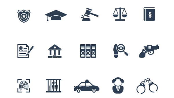 15 Law And Legal Icons Icon Security Badge Icon Set