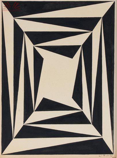 Aluisio Carvao Geometrico 1954 Abstracionismo Geometrico