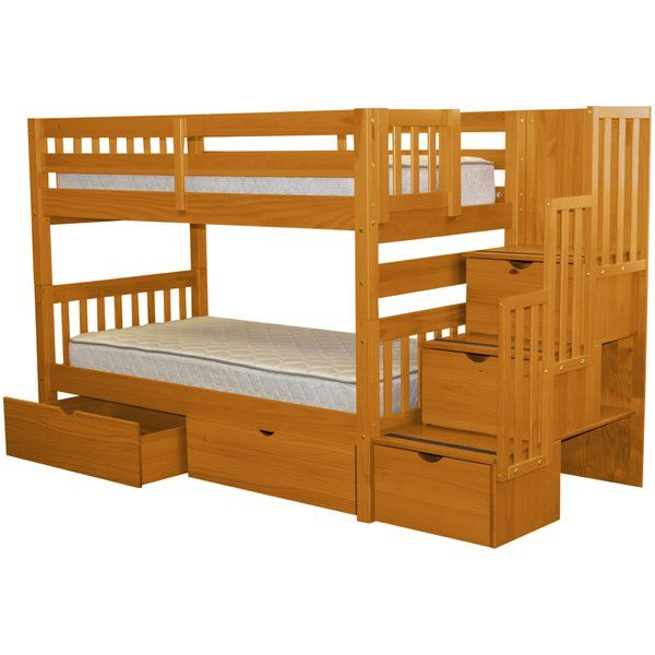 Tena Twin Over Twin Bunk Bed With Extra Storage Miles Rilee S