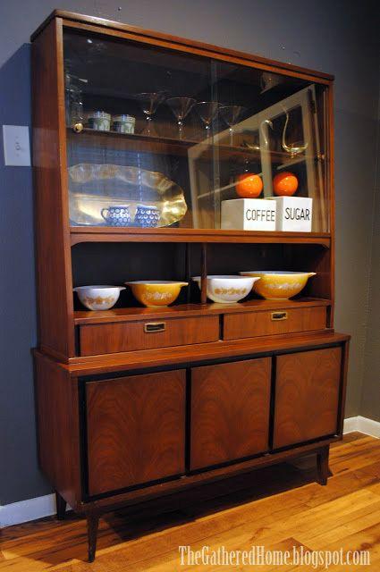 The Gathered Home Found Mid Century Modern China Cabinet Modern China Cabinet Mid Century Modern Decor