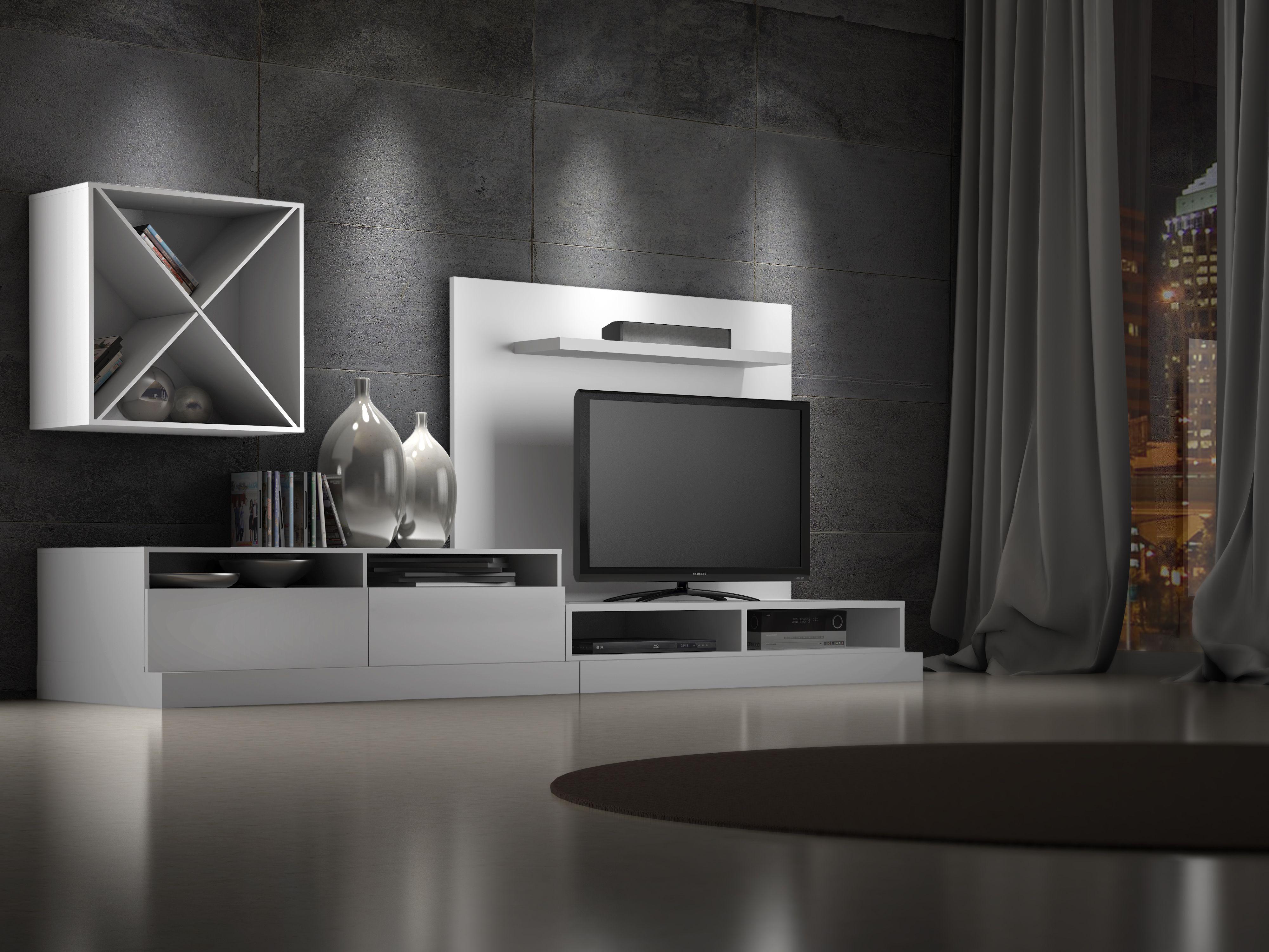 Syne Createch Design Elegant Modern Design Mediastorage  # Deco Table Tele Plus Homecimema