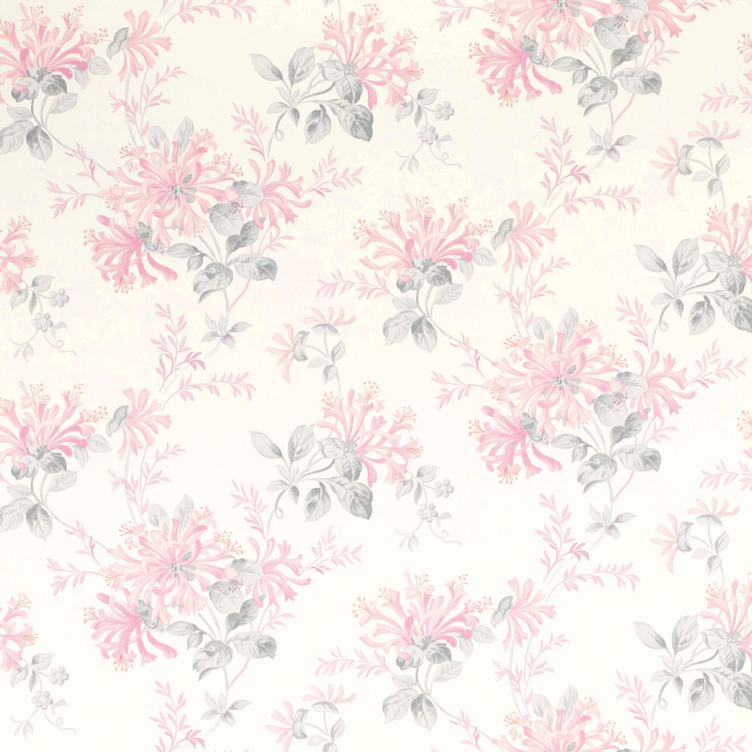 Laura ashley honeysuckle trail cyclamen floral wallpaper - Laura ashley papel pintado ...