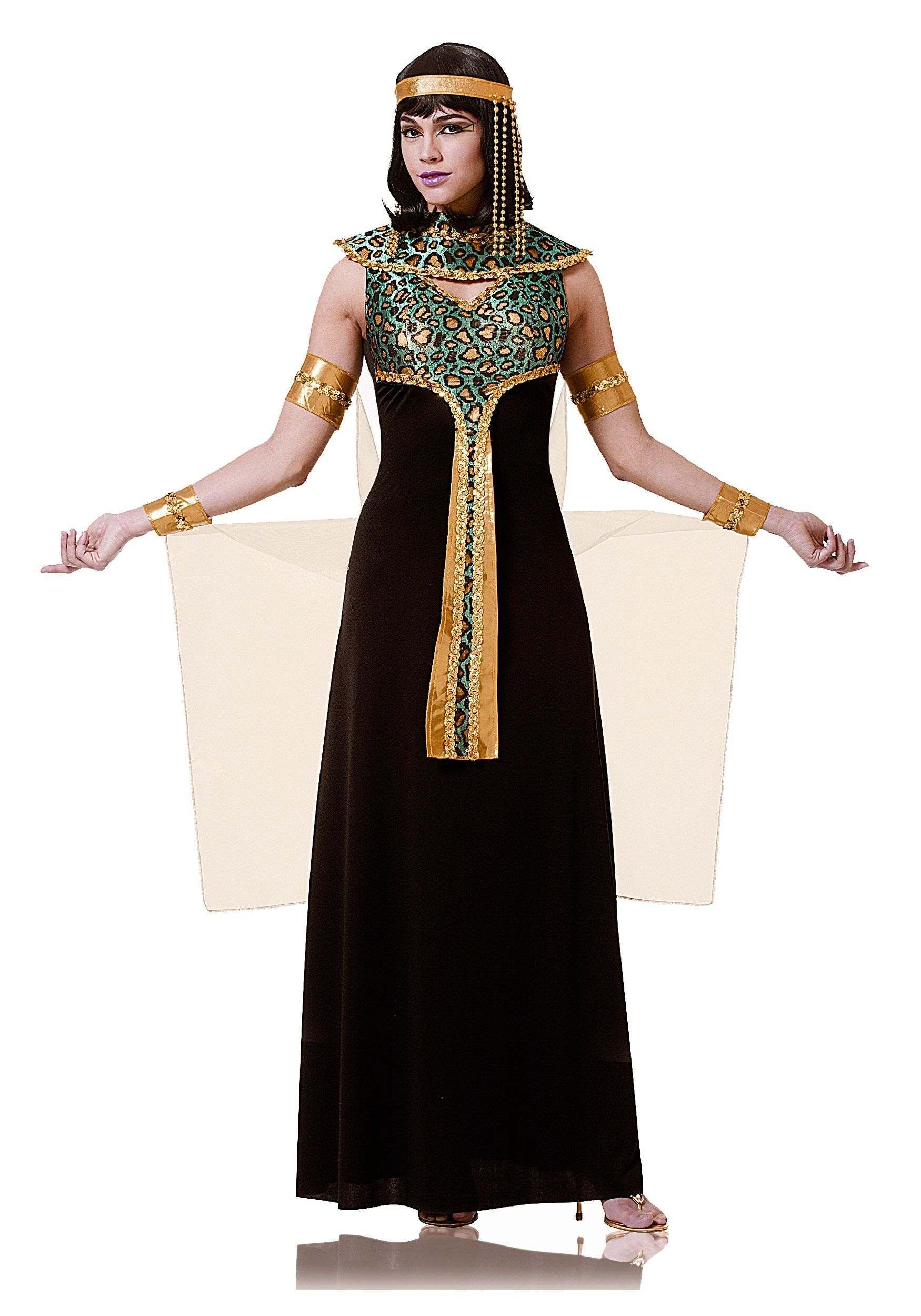 Adult Black and Teal Cleopatra Costume | Costumes and ...