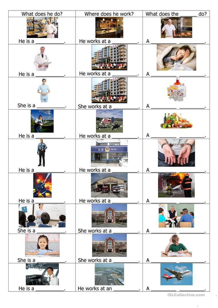 Jobs worksheet - Free ESL printable worksheets made by teachers