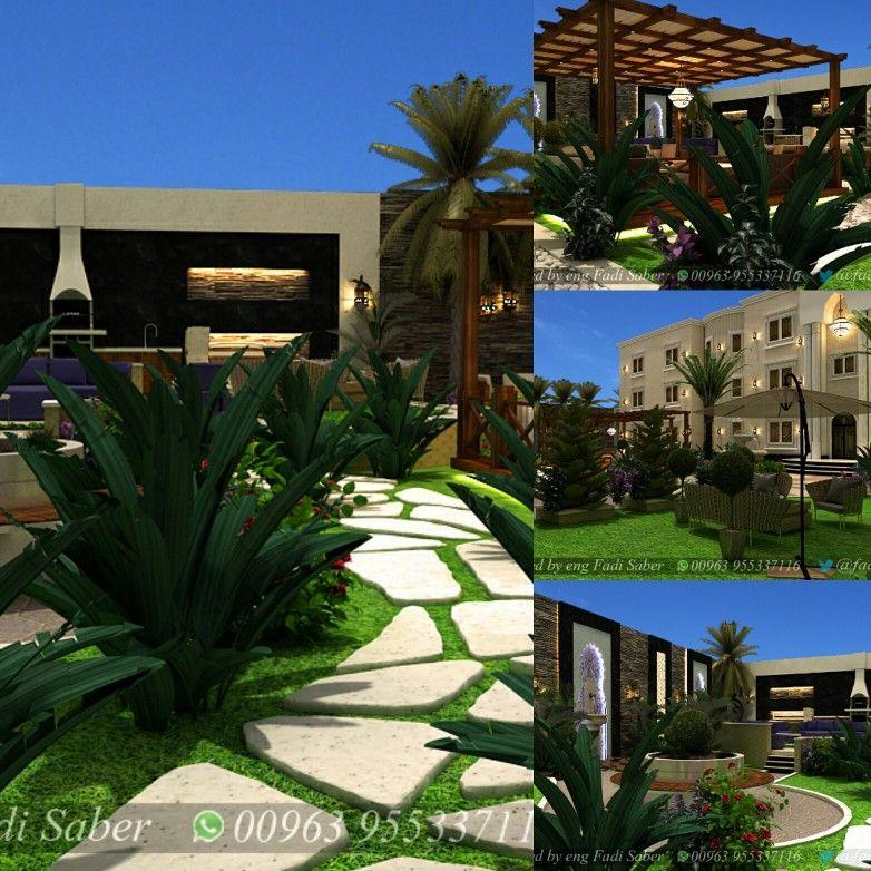 تصميم حدائق لا ند سكيب واجهات House Layouts House Styles House