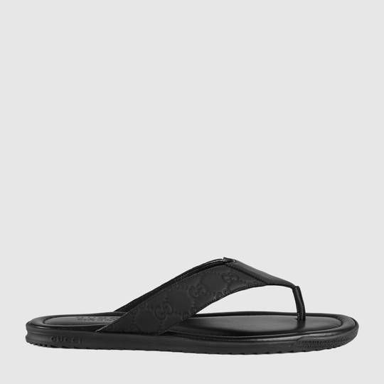 9fe5117ad0b Gucci Rubberized leather thong sandal Men Sandals