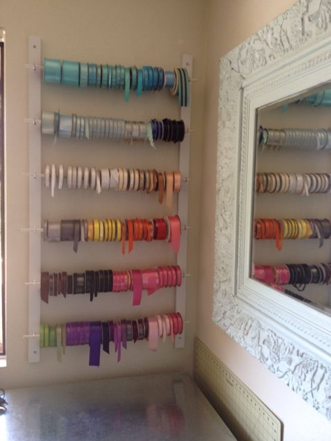 Diy Ribbon Rack Ribbon Storage Ribbon Wall Diy Ribbon