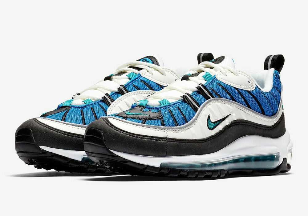 Womens Nike Air Max 98 Size 8 Shoes Blue Nebula Sail Emerald