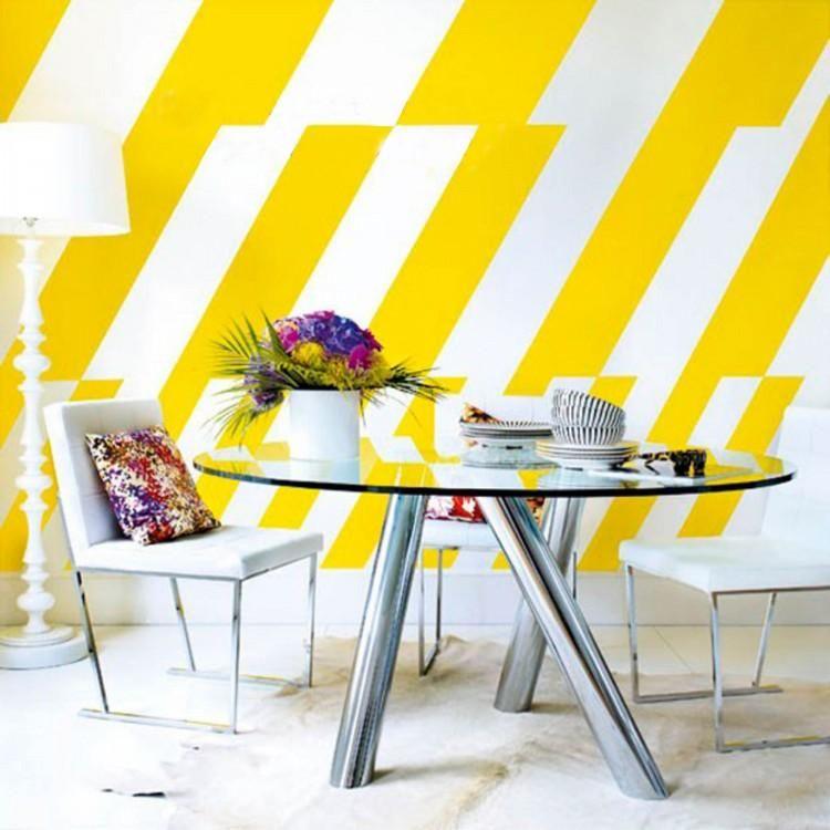 Pintar paredes con figuras geom tricas paredes dise os - Paredes pintadas originales ...