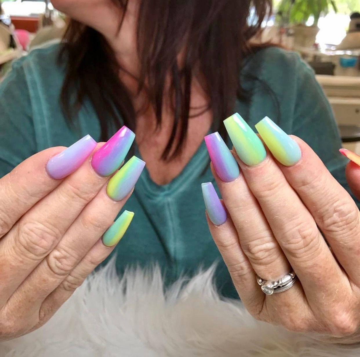 Cute rainbow nail art idea #nails #nailart #pride #unas | Nail Art ...