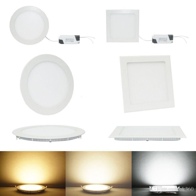9w12w15w18w21w Cree Led Panel Lights Recessed Lamp Roundsquare
