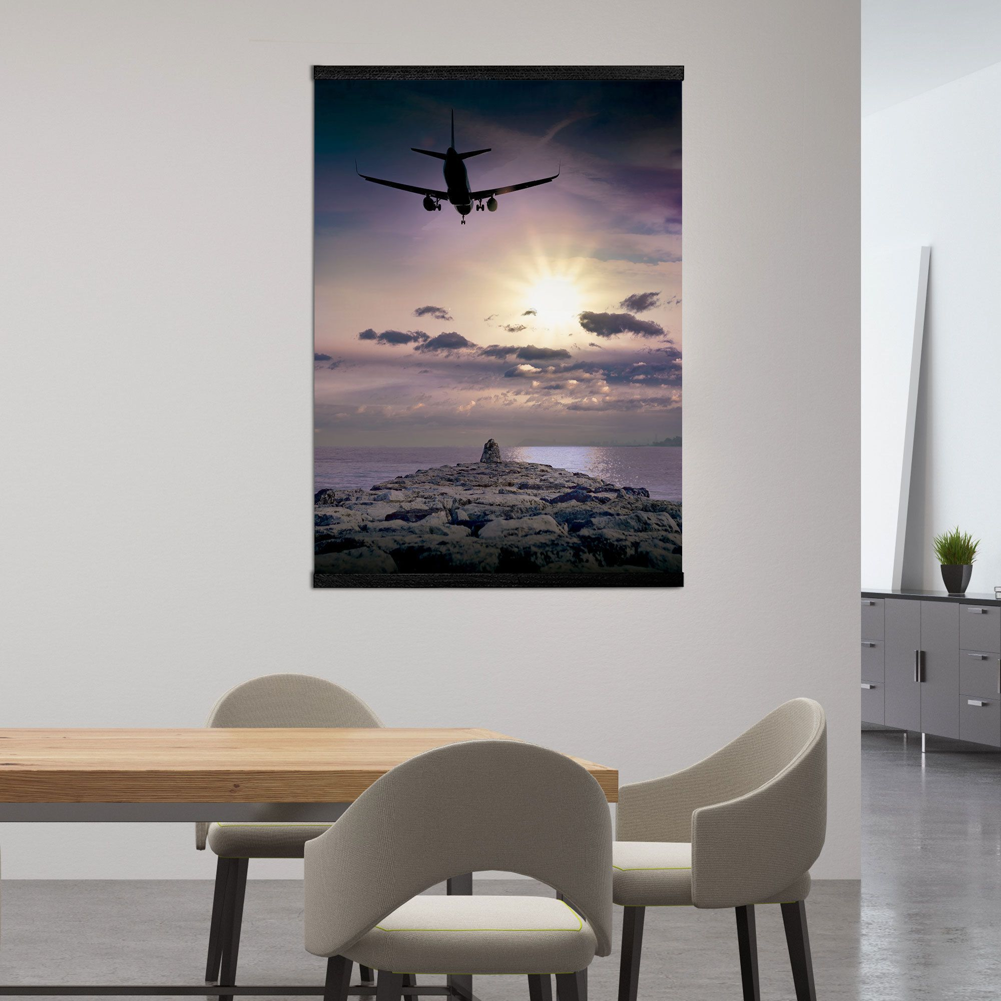 Plane Wall Art With Frame Flight Canvas Landing Plane Wall Etsy Plane Wall Art Travel Wall Art Travel Gallery Wall