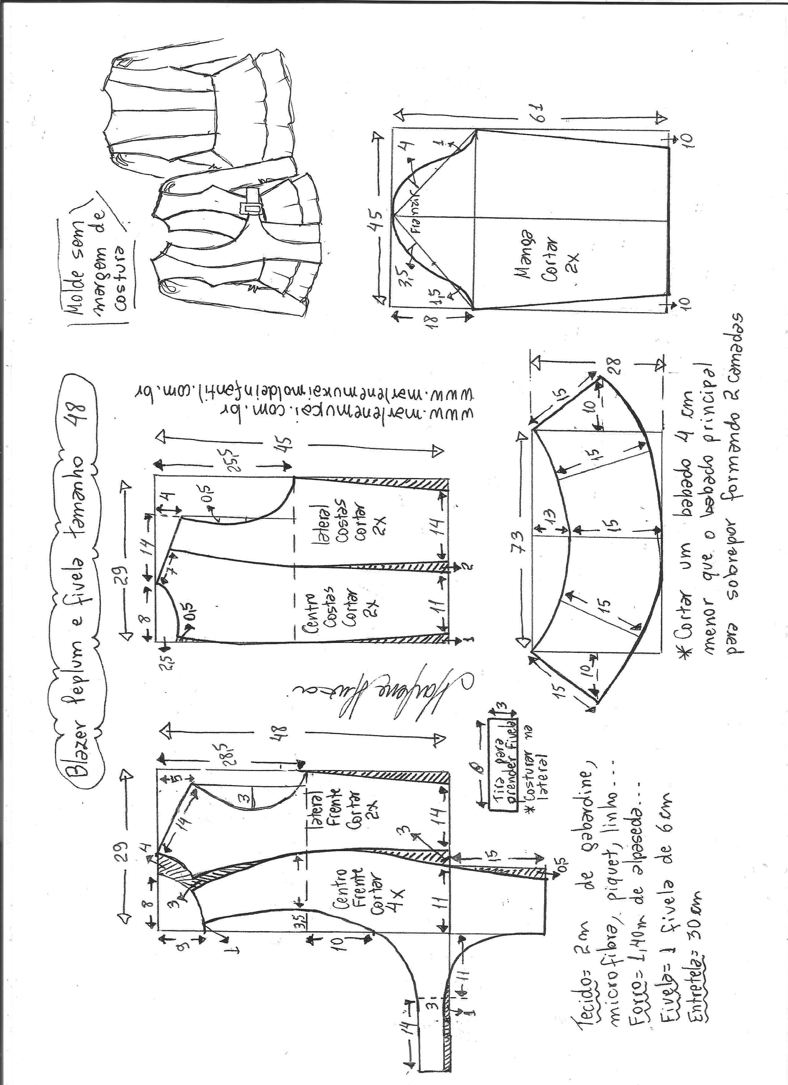 Pin de emilio serrano en ropa femenina | Chaqueta ajustada, Patrones ...
