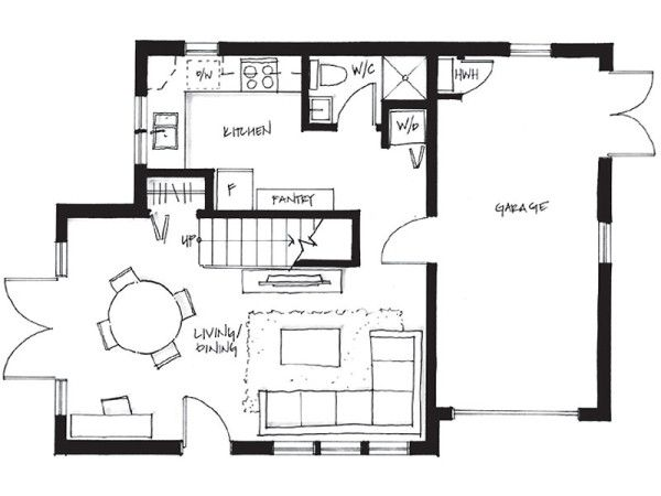 750 Sq Ft 2 Bedroom 2 Bath Garage Laneway Small House Small House Floor Plans Small House Plans House Plans