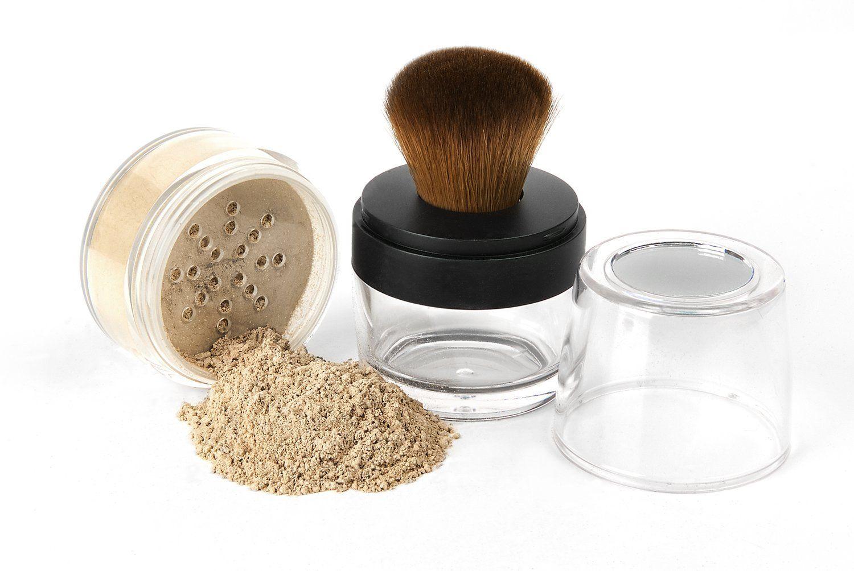 KABUKI JAR BRUSH and FOUNDATION Kit Mineral Makeup Set