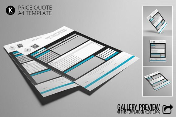 Price Quote A4 Template Price quote, Quotes and Templates