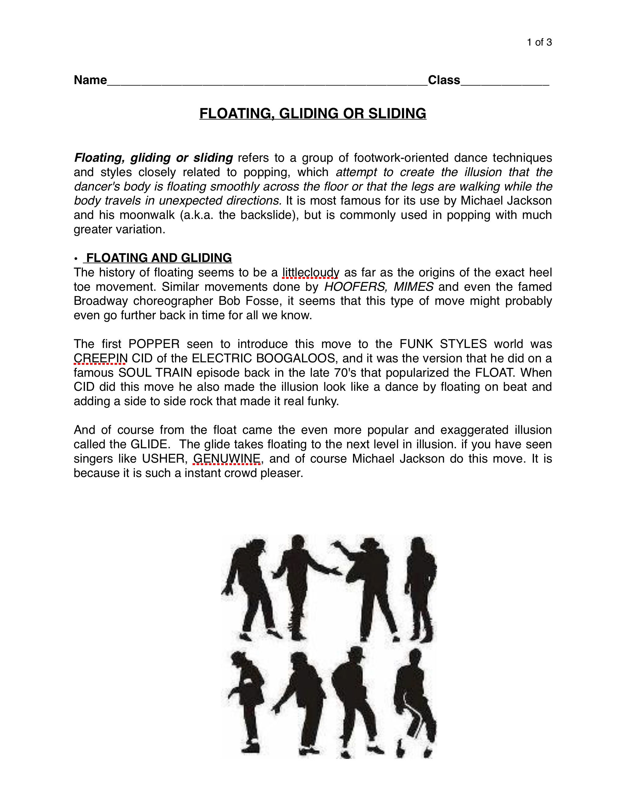 Page 1 Floating Gliding Or Sliding