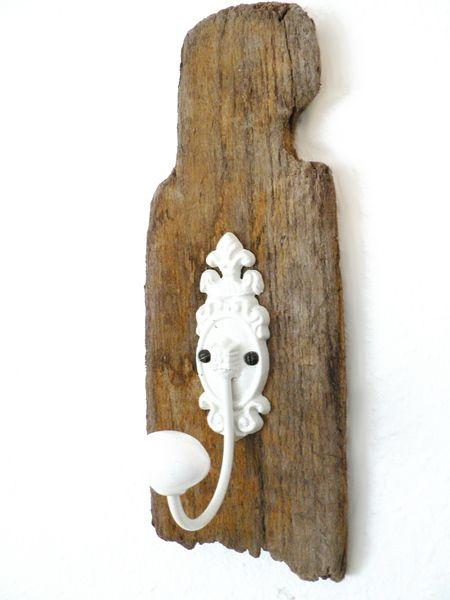 Garderobenhaken RAW -Aufhängung aus Treibholz - ein Designerstück von MareLigneum bei DaWanda