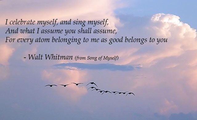 i celebrate myself poem