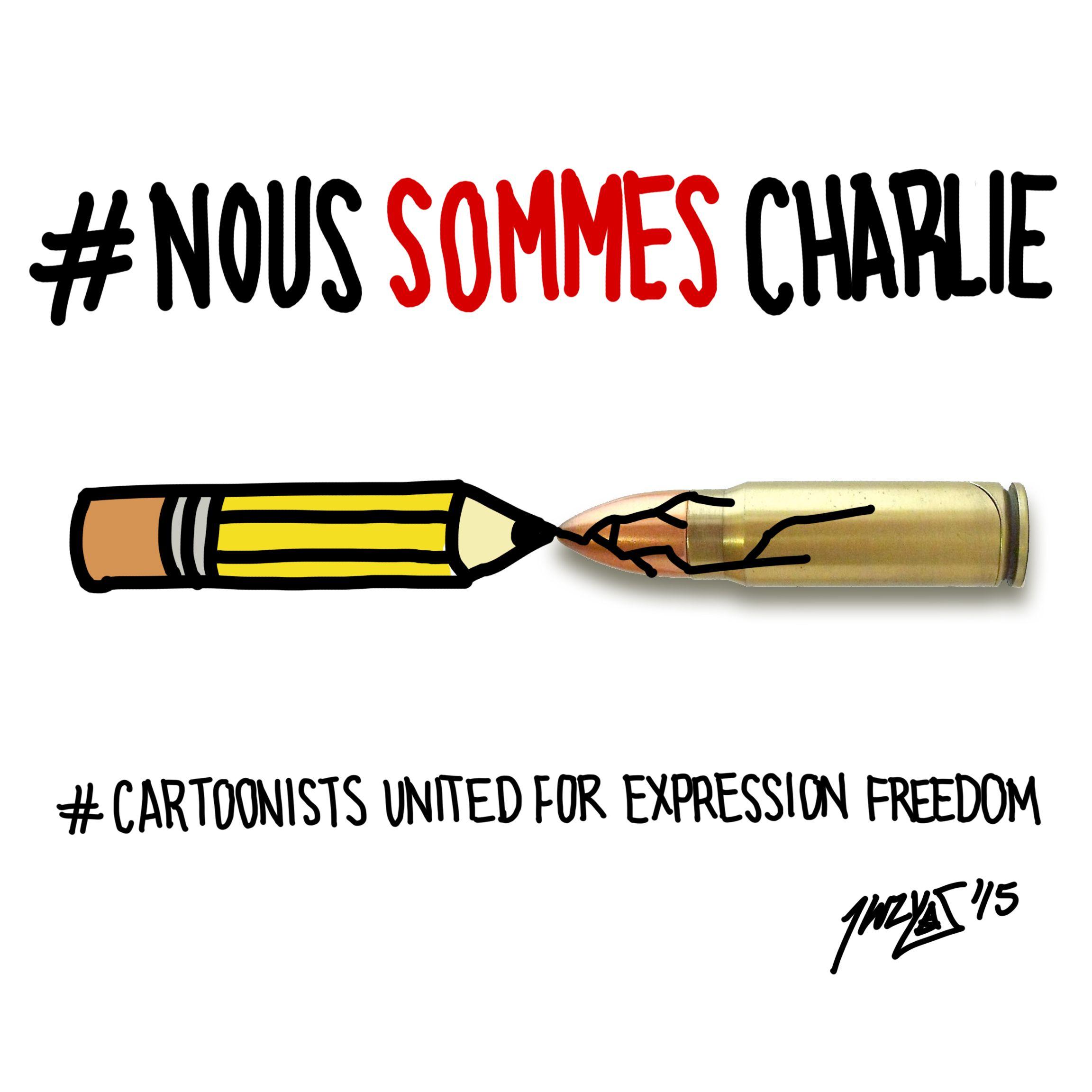 #NousSommesCharlie #CartoonistsUnitedForExpressionFreedom