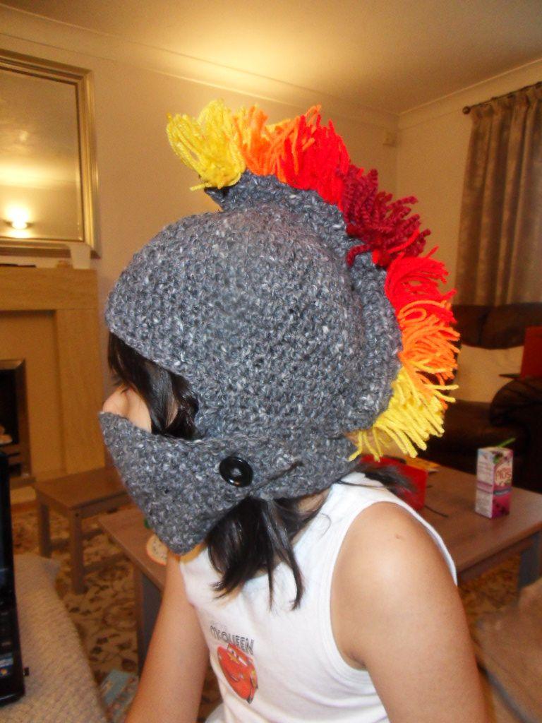 Crochet Roman Centurion Helmet (ages 4-5). Roman helmet. Crochet ...