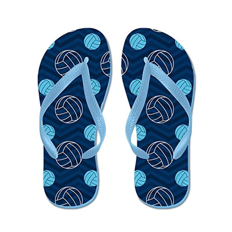 f9d39f866 Blue and Tan Chevron Volleyball - Flip Flops