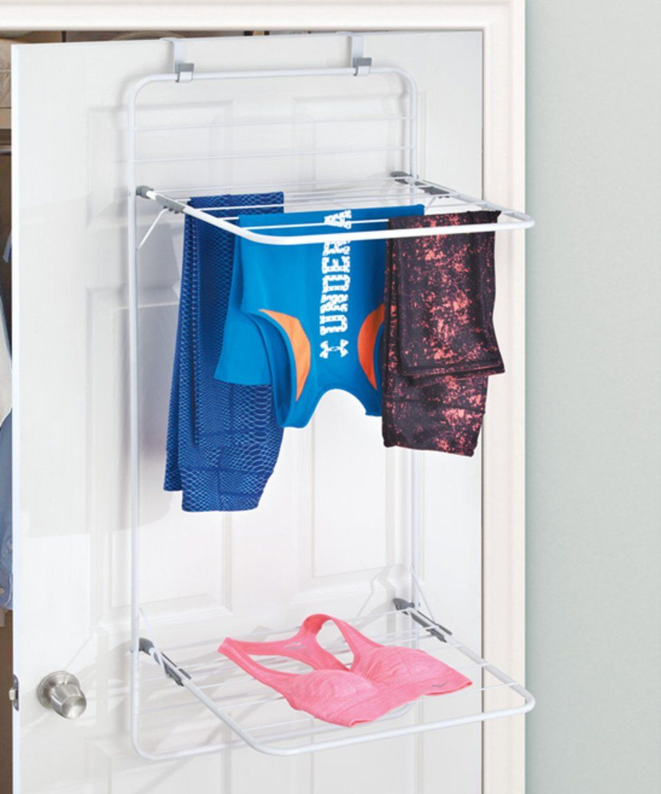 Take A Look At This Brezio Over Door Double Shelf Laundry Drying Rack Today!